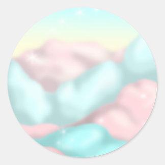 Candy Clouds Classic Round Sticker