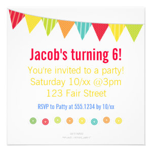 personalized kids party invitations and favors candy clown kids