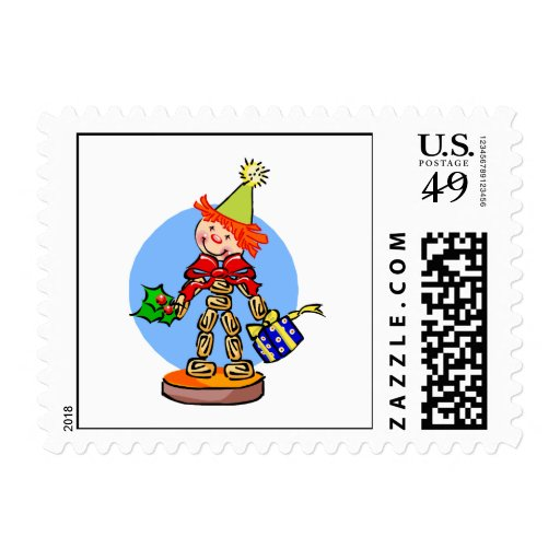 Candy Clown Postage Stamp