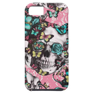 Candy coated girly butterfly rose skull. iPhone 5 case