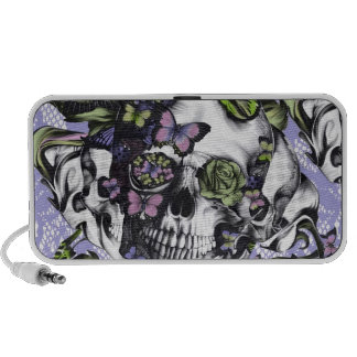 Candy Coated girly butterfly skull iPhone Speaker