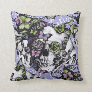Candy Coated girly rose skull pillow.