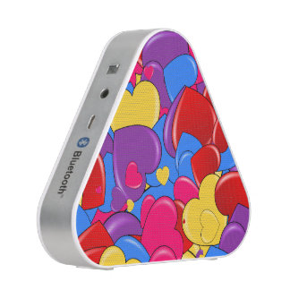 Candy Coated Hearts Digital Art Portable Speaker