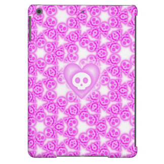 Candy Coated Pink Heart and Skull ipad air case