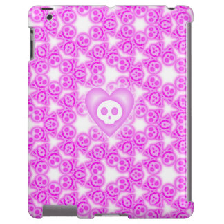 Candy Coated Pink Heart and Skull ipad case