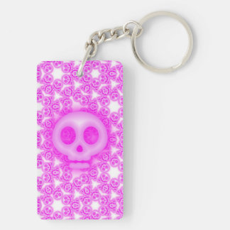 Candy Coated Pink Skulls key chain