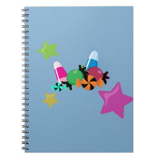 Candy Collage Halloween Design Notebook