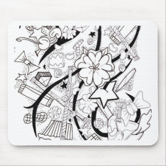 candy collage mouse pad