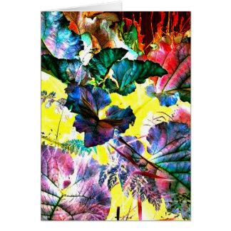 Candy Color Garden Abstract Art Photo Blank Inside Card