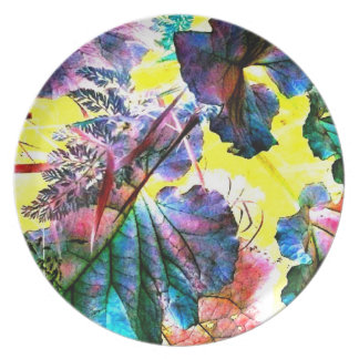 Candy Colored Leaves Abstract Art Photo Wall Decor Plates