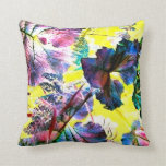 Candy Colored Leaves Flowers Pop Art Photo Pillows