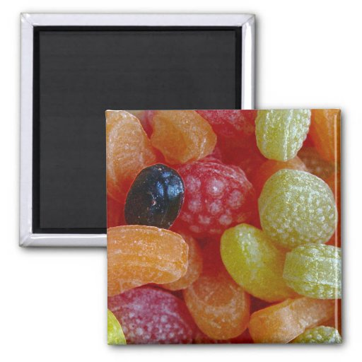 CANDY COLORS 2 INCH SQUARE MAGNET