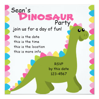 Candy Colors Dino Card