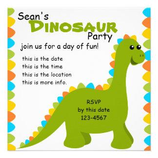 Candy Colors Dino Custom Invites