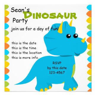 Candy Colors Dino Invite