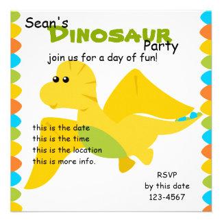 Candy Colors Dino Invites