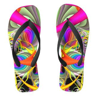 Candy Colors Fractal Flip Flops