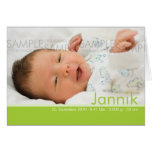 Candy Colors Geburtskarte - Baby Announcement Greeting Cards