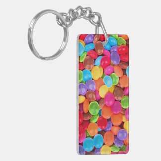 CANDY COLORS Double-Sided RECTANGULAR ACRYLIC KEYCHAIN
