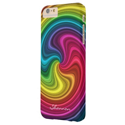 Candy Colors Spiral iPhone 6 Plus case - add text