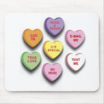 Candy Conversation Hearts Gifts and Apparel Mouse Mat