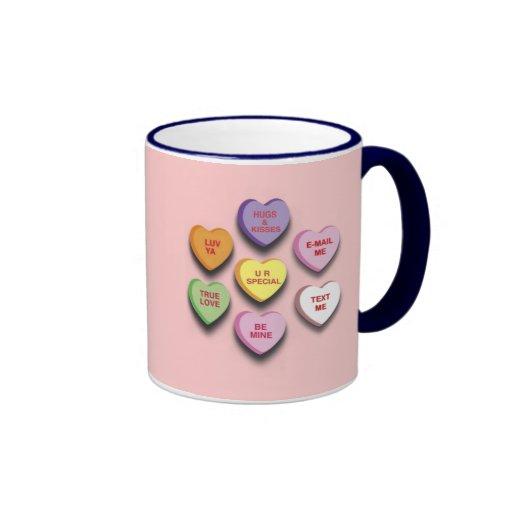 Candy Conversation Hearts Gifts and Apparel Mug
