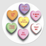 Candy Conversation Hearts Gifts and Apparel Stickers