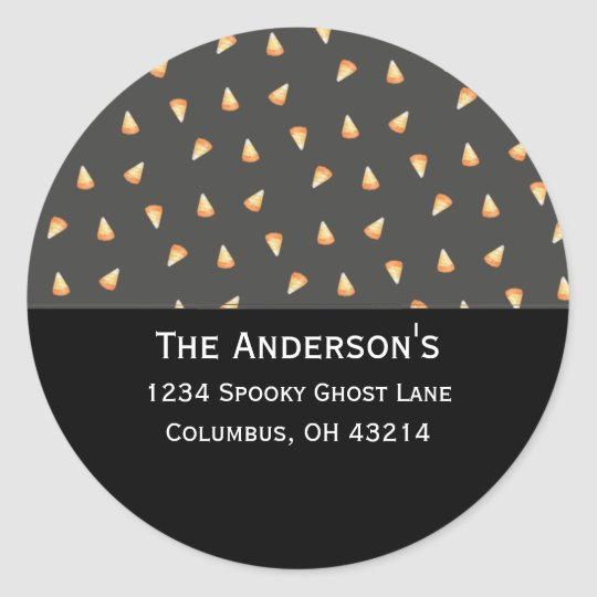 Candy Corn Address Labels