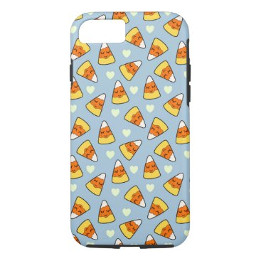 Halloween Themed Candy Corn and Heart Pattern iPhone 8/7 Case