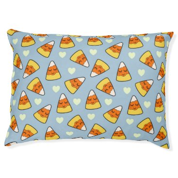 Halloween Themed Candy Corn and Heart Pattern Pet Bed