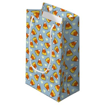 Halloween Themed Candy Corn and Heart Pattern Small Gift Bag