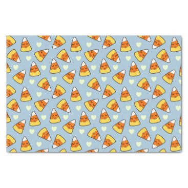 Halloween Themed Candy Corn and Heart Pattern Tissue Paper
