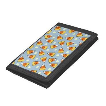 Halloween Themed Candy Corn and Heart Pattern Tri-fold Wallet