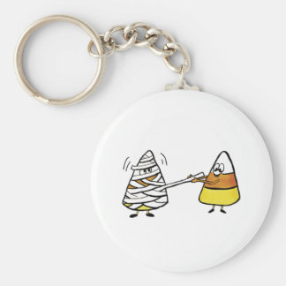 Candy Corn and Mummy Keychain