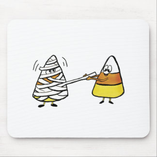 Candy Corn and Mummy Mouse Pad