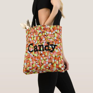 Halloween Themed Candy Corn and Pumpkin Candy Trick or Treat Bag