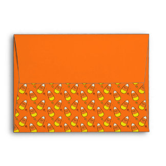Candy Corn and Stars Envelope