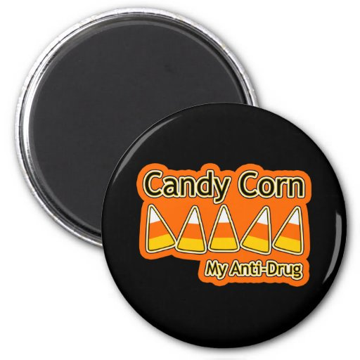 Candy Corn Anti-Drug Magnet
