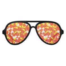 Candy Corn Aviator Sunglasses at Zazzle