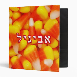 Candy Corn Avigayil, Abigail 3 Ring Binder