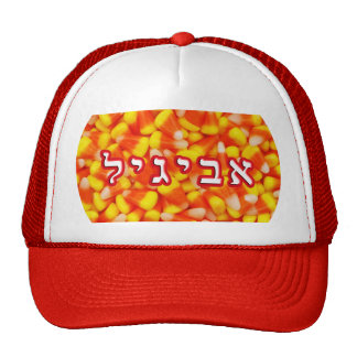 Candy Corn Avigayil, Abigail Trucker Hat