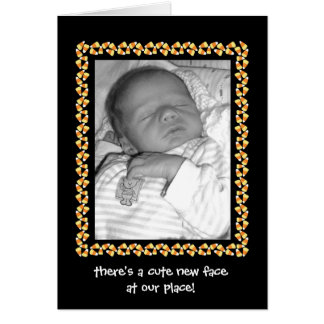 Candy Corn Birth Announcement (Boy or Girl)