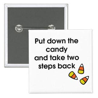 Candy Corn 2 Inch Square Button
