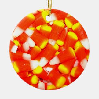 Candy Corn Ceramic Ornament