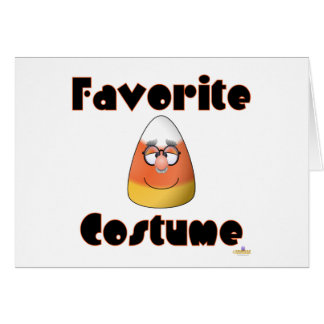 Candy Corn Character Favorite Costume Card