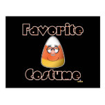 Candy Corn Character Favorite Costume Postcard