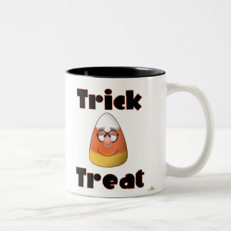 Candy Corn Character Trick Or Treat Two-Tone Coffee Mug
