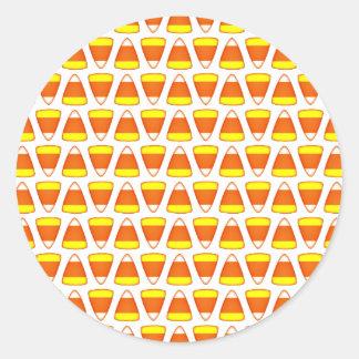 Candy Corn Classic Round Sticker