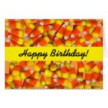 Candy Corn - Corny Birthday Greeting Card