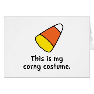 Candy Corn Corny Costume Card